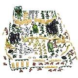 Backbayia 250 unidades de fuerzas armadas Unidad de Defensa Militar, soldados de batalla infantiles, juguetes educativos