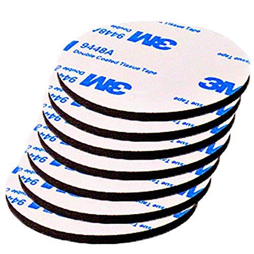 Jyu永久に 壁用 剥がせる両面テープ はがせる 強力 傷つけないテープ DIY·工具 事務用品 掲示用 表札 無地 30個/黒#HKL