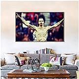 YHSM Zlatan Ibrahimovic Leinwandbild Fußball Poster und