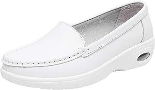 rismart Donna Cuscino Zeppa Sneaker Scivolare su Loafer Comfort Infermiera Scarpe