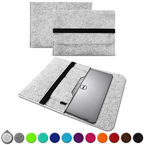 UC-Express Sleeve Hülle für Dell XPS 13 9380 9370 9360 9365 Tasche Filz Notebook Cover Laptop Hülle 13,3 Zoll Schutzhülle, Farben:Helles Grau