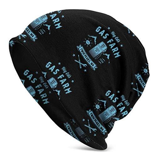 Gorro de Punto Granja de Gas de Big Ed Knit Beanie Hat Cap Gorras de Invierno Sombreros Skull Cap