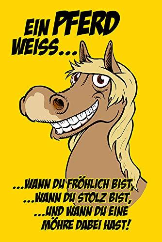 Metalen bord een paard wit.wanneer je een worm daarbij hebt!