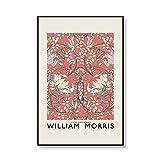 William Morris Vintage flor ilustración pintura exposición...