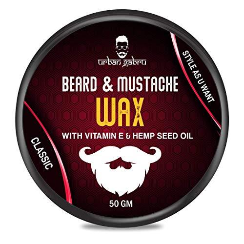 Urbangabru Beard & Mustache Wax for Strong Hold (50 Gram) (Beard Wax (50 Gram))