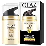 Olaz Total Effects CC Cream, 7 Benefici in 1, Crema Viso Colorata Uniformante Giorno, Idradante e Illuminante, Protezione Solare SPF15, Medio-Scuro - 50 ml