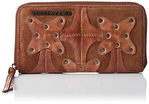 Taschendieb TD0714 Damen Geldbörsen 21x11x2 cm (B x H x T), Braun (nougat)
