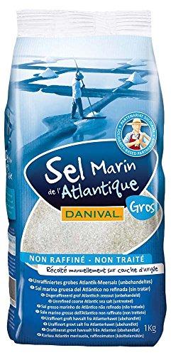 Danival-Sel Gros Marin Gris de l Atlantique, non traité, non raffiné-1 kg