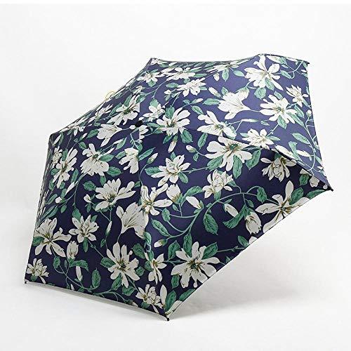 Parasol Umbrellas Creative Super Light Easy To Carry Mini Pocket Umbrella Men 5 Fold 229G Travel Umbrella Rain/Sun Women Parasol Lily