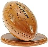Rugby Ball 3D Puzzle en bois : Nouveauté d'amusement de Noël et cadeau d'anniversaire: Idée teaser de cerveau cadeau: Jigsaw: Ornement: Cadeaux pour les enfants, les hommes, les garçons, les fans de rugby