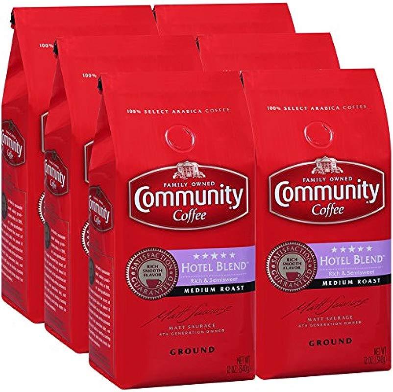 Community Coffee Premium Ground Coffee Five Star Hotel Blend Medium Roast 12 Ounce Pack Of 6