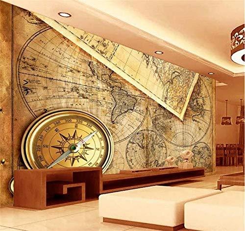 Sxjhds Tapete Wandbild Wohnzimmer Der Fernsehkarte 3D Der Welt 3D Wanddekorationstapete des Fotos 3D-250 * 175cm