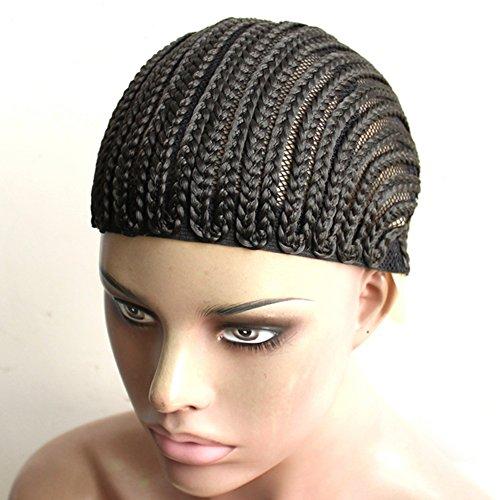 Royalvirgin Bonnet de perruque Cornrows pour plus de facilité à coudre - Bonnet tressé pour la fabrication de perruque - Sans colle