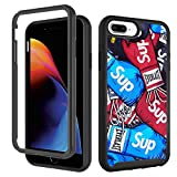 Case for iPhone 6 Plus 6s Plus, iPhone 8 Plus Case, iPhone 7 Plus Cases Cool Street Fashion Design Boxing Gloves for Boys Men Shockproof Rugged Dual Layer Bumper Full-Body Protective Cover 5.5 inch