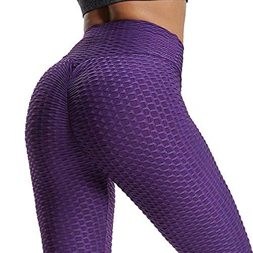 N\C Jacquard Bubble Yoga Pantalones+Sujetador Deportivo Señoras Cintura Alta Hip-lifting Leggings Deportes Fitness Yoga Ropa Mujeres