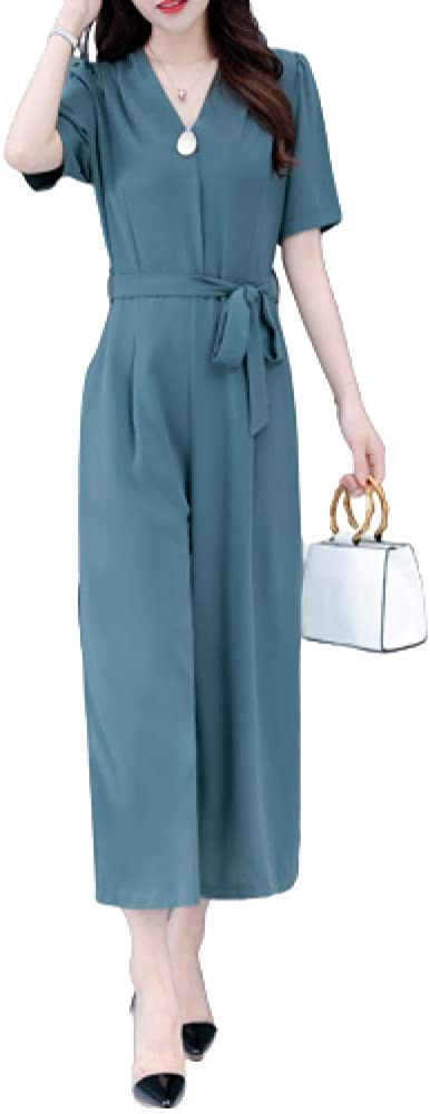 GenericBrands Women's Wide Leg Casual Pants Summer Fashion Sexy High Waist Personality