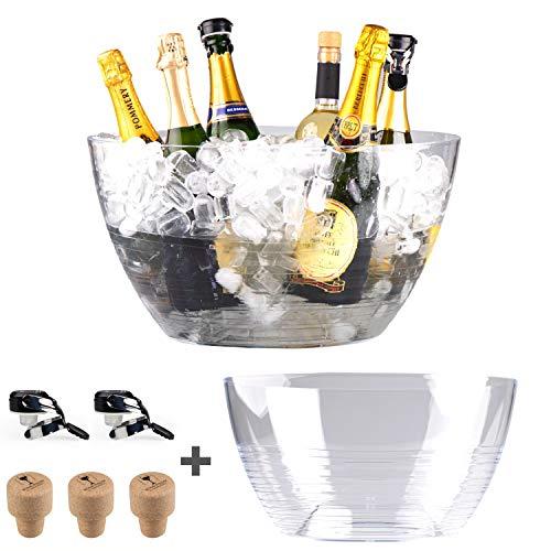 Spumantiera glacette grande by Hungrycircle® Wine room, deisgn e qualità Italiana per questa boule portaghiaccio, perfetta temperatura per le vostre bottiglie di vino spumante champagne birra ecc.