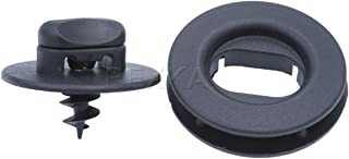 Rexka 10 Sets Floor Mat Clips Kit for Volkswagen 3D0-864-851-B41 and 3D0-061-795-B41 Golf GTI Jetta Passat