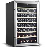 BODEGA Weinkühlschrank,128 Liter Weinkühler Großer Freistehender...