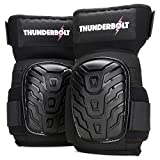 Knee Pads for Women for Work by Thunderbolt for Flooring, Gardening, Cleaning, Tile Work, with Comfortable Gel Cushion and Anti-Slip Straps
