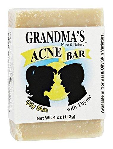 Grandma's Pure & Natural Acne Bar for Oily Skin 4 oz by Grandmas Pure & Natural