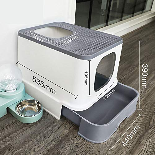 2020 Self Cleaning Cat Litter Box,Anti-Splashing and Deodorizing Fully Enclosed Drawer Top Entry Self Cleaning Cat Toilet Suitable for Cats Under 18 Pounds Cat Supplies -Best self Cleaning Litter Box