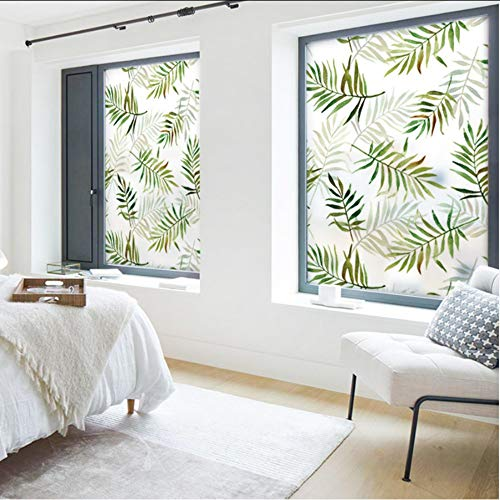 Djkaa PVC glas film 2019 raamfolie Frosted Opaque Privacy Glas Sticker Home Decor Digitale print Plant Tuin
