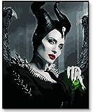 Maleficent Poster Angelina Jolie Gemalt durch Zahlen Adult
