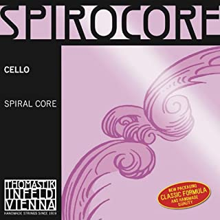 Thomastik-Infeld S29w Spirocore Cello Strings, Single C String, Weich (Light), 4/4 Size, Steel Core Chrome Wound