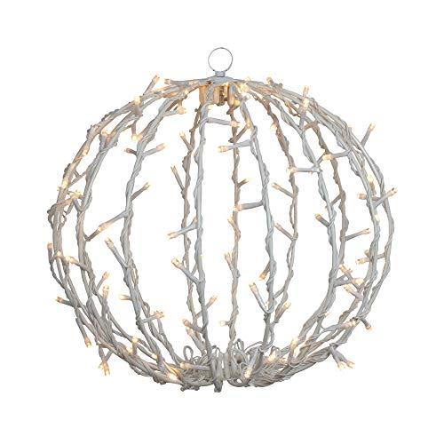 13' LED Lighted Christmas Hanging Ball Decoration – Warm White Lights