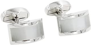 Pearl White Stone Cufflinks | Groomsmen Cuff links | Gift for Him | Anniversary Present for Husband