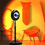 Sunset Lamp, PITCH PULSE Lámpara de Proyección de Puesta de sol 16 colores con Control Remoto, 180 grados de rotación Luz Nocturna USB para Fotografía Selfie Salón Decoración de Dormitorio