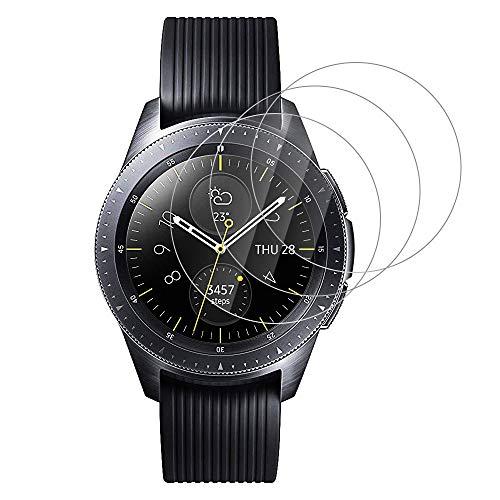 RHESHINE Schutzfolie Panzerglas für Samsung Galaxy Watch 42mm Glas [3 Stück], Premium HD Glasfolie 9H Schutzfolie für Samsung Watch 42mm Displayschutzfolie, Anti Fingerabdruck Anti-Öl Anti-Kratzer