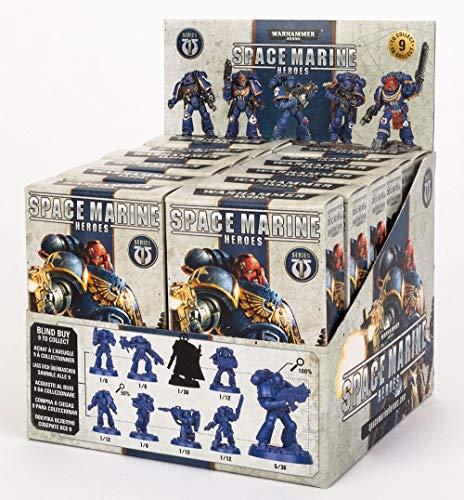 Games WorkShop SMH-01-60 Warhammer: Space Marine Heroes - Serie 1 Blind Buy Collectable (12 Stück CDU) 40000-Space Figur