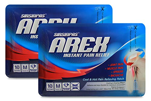 Read About SINSINPAS AREX Cool & Hot Pain Relieving Patch, Medium 2 Pack (20 Patches Total)