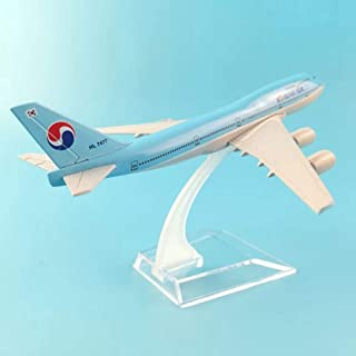 NKJWHB 16cm Plane Model Airplane Model Korean Air Boeing 747 Aircraft Model Diecast Metal Airplanes 1:400 Plane Toy Gift