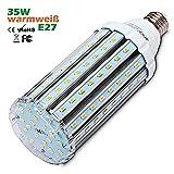 35W E27 LED Mais Lampe, Warmweiss 3000K...