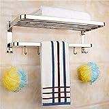 Toallero acero inoxidable toallero baño de hardware colgante 304 estante 2 baños toallero 50cm