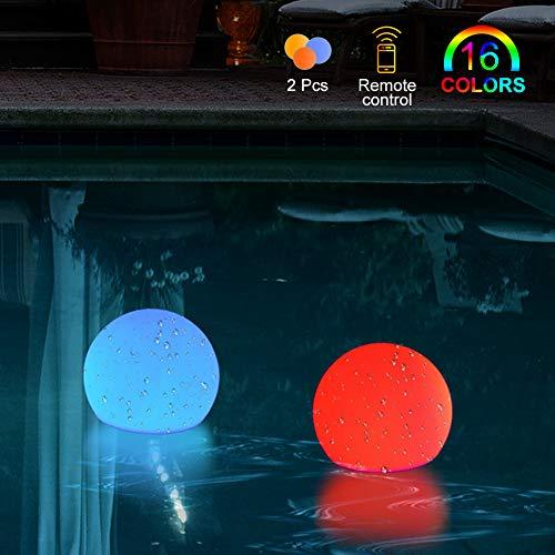 BLOOMWIN Unterwasser Licht Poolbeleuchtung IP68 Wasserdichte LED Leuchten mit RF Fernbedienung für Schwimmbad,Weihnachten, Halloween, Weihnachten,Fish Tank Dekorationen