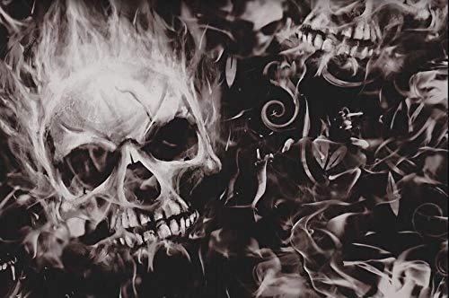 Wassertransferdruckfilm 0,5 m x 2 m Inferno Skulls Wassertransferfolie Hydrographics Film