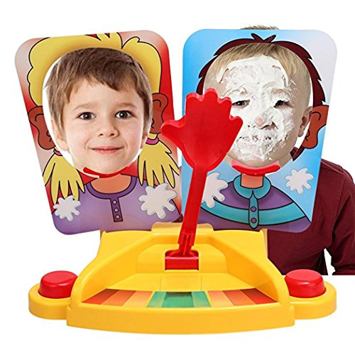 Dtemple Pie Face Game Showdown Thrower Party Fun Sky High Game 2 Player Board Game Jokes Anti Stress for Kids and Family