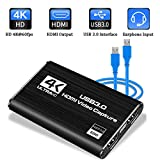 MATECam Audio Video Capture Cards HDMI to USB 4K HDMI Video Capture, HDMI USB3.0 1080P 60fps Portable Video...