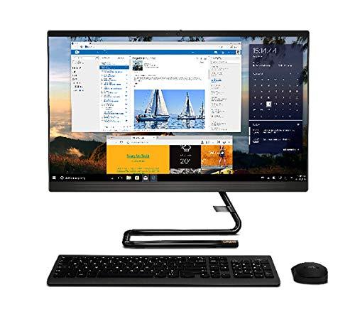 """Lenovo IdeaCentre AIO 3 PC da 23,8"""" FHD, Processore AMD Ryzen 3 4300U, RAM 8GB, Integrated AMD Radeon Graphics, Windows 10, Mouse + Tastiera QWERTY senza fili, Nero"""