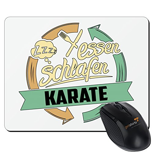 getshirts - RAHMENLOS® Geschenke - Mousepad - Sport Karate - weiss uni