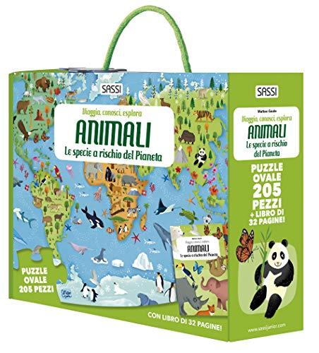 Animali. Le specie a rischio del pianeta. Viaggia, conosci, esplora. Con puzzle