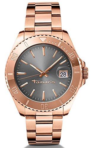 Tamaris Damen-Armbanduhr Marina Analog Quarz Edelstahl B08202040