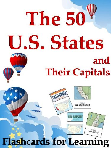 The 50 U.S. States and Their Capitals - Flashcards for Learning (The Big Book of U.S. States 1) (English Edition)