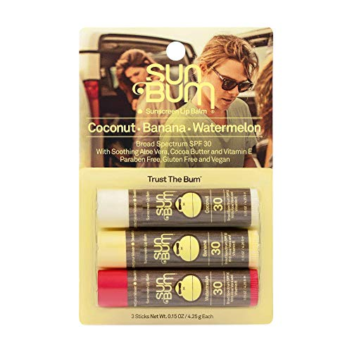 Sun Bum SPF 30 Sunscreen Lip Balm | Vegan and Cruelty Free Broad Spectrum UVA/UVB Lip Care with Aloe and Vitamin E for Moisturized Lips | Variety Pack |.15 oz