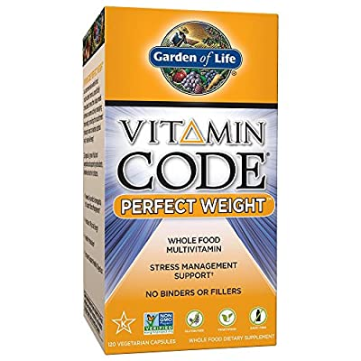 Garden of Life Vegetarian Multivitamin Supplement for Weight Management - Vitamin Code Perfect Weight Raw Whole Food Vitamin