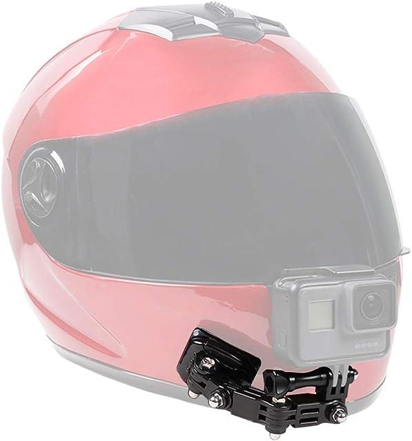 SUREWO Soporte para Casco de Motocicleta y Soportes Adhesivos Compatible con GoPro Hero 8 7 6 5 Black 4 Session 4 Silver 3 +